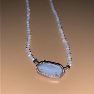 White beaded Kendra Scott necklace